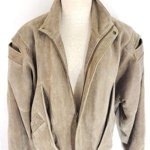 Vintage Mens Wilson Leather Suede Jacket Large